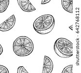 fruit menu   orange   graphic... | Shutterstock .eps vector #642768112