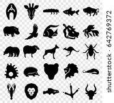 wildlife icons set. set of 25... | Shutterstock .eps vector #642769372