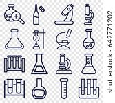 lab icons set. set of 16 lab...