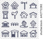 roof icons set. set of 16 roof... | Shutterstock .eps vector #642772282