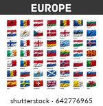 flags of europe waving in the... | Shutterstock . vector #642776965