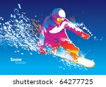 the colorful figure of a young... | Shutterstock .eps vector #64277725