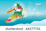 the colorful figure of a young... | Shutterstock .eps vector #64277731