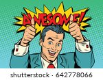 awesome businessman two like... | Shutterstock .eps vector #642778066