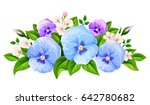 vector blue and purple pansy... | Shutterstock .eps vector #642780682