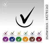 checkmark icon  v letter logo... | Shutterstock .eps vector #642781162