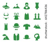 top icons set. set of 16 top... | Shutterstock .eps vector #642786436