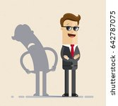 businessman and his shadow.... | Shutterstock .eps vector #642787075