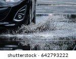 motion car rain big dirty... | Shutterstock . vector #642793222