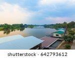 landscape of bridge of the... | Shutterstock . vector #642793612