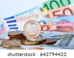 euro currency closeup | Shutterstock . vector #642794422