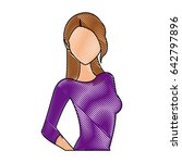 drawing portrait female...   Shutterstock .eps vector #642797896