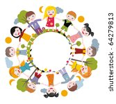 world of childhood | Shutterstock .eps vector #64279813