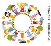 world of childhood | Shutterstock .eps vector #64279813