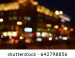 blurred night street  | Shutterstock . vector #642798856