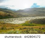 spotted lake in okanagan valley   Shutterstock . vector #642804172