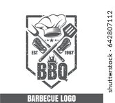 logo for barbecue  hat for the... | Shutterstock .eps vector #642807112