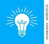 bulb light brilliant idea logo | Shutterstock .eps vector #642815512