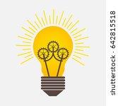 bulb light ideas with gears logo | Shutterstock .eps vector #642815518