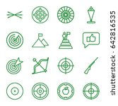 target icons set. set of 16... | Shutterstock .eps vector #642816535