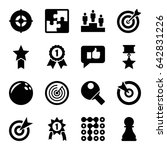 challenge icons set. set of 16... | Shutterstock .eps vector #642831226