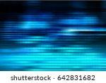 future technology  blue eye... | Shutterstock . vector #642831682