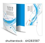 corporate folder with die cut... | Shutterstock .eps vector #64283587