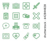 cross icons set. set of 16... | Shutterstock .eps vector #642844828