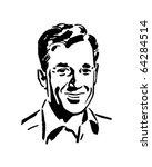 regular guy   retro clipart... | Shutterstock .eps vector #64284514
