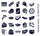 slice icons set. set of 25... | Shutterstock .eps vector #642847552