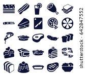 slice icons set. set of 25... | Shutterstock .eps vector #642847552