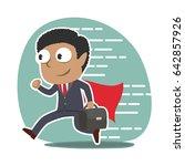 super african businessman... | Shutterstock .eps vector #642857926