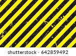 line yellow and black color... | Shutterstock .eps vector #642859492