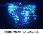 blue abstract background...   Shutterstock .eps vector #642859816