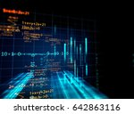 block chain network and... | Shutterstock . vector #642863116