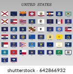 all flags of states of the... | Shutterstock .eps vector #642866932