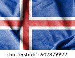 iceland cotton flag | Shutterstock . vector #642879922