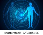 abstract science concept human... | Shutterstock .eps vector #642886816