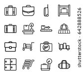 baggage icons set. set of 16... | Shutterstock .eps vector #642888526