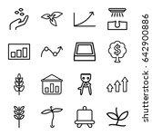 grow icons set. set of 16 grow... | Shutterstock .eps vector #642900886