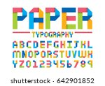 vector of modern paper font and ... | Shutterstock .eps vector #642901852