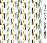 color pencils vector seamless... | Shutterstock .eps vector #642911962