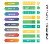colorful website web buttons... | Shutterstock .eps vector #642912166