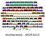 children's trains | Shutterstock .eps vector #64291612