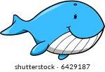 cute whale vector illustration | Shutterstock .eps vector #6429187