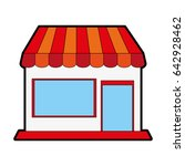 small store or shop icon image  | Shutterstock .eps vector #642928462