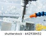 milling metalwork process. cnc... | Shutterstock . vector #642938452