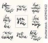 set of handwritten lettering... | Shutterstock .eps vector #642942412