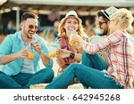 a group of friends having great ... | Shutterstock . vector #642945268