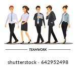 business people teamwork ... | Shutterstock .eps vector #642952498